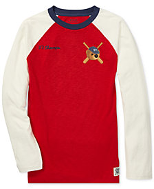 Polo Ralph Lauren Big Boys Polo Bear Cotton Long-Sleeve Baseball T-Shirt