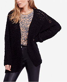 Free People Saturday Morning Oversized Open-Front Cardigan
