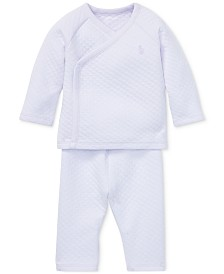 Ralph Lauren Baby Girls Kimono Top & Pants Set