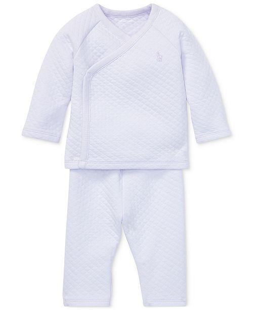 a826eeee Ralph Lauren Baby Girls Kimono Top & Pants Set