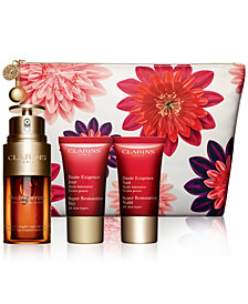 Clarins 4-Pc. Double Serum & Super Restorative Set