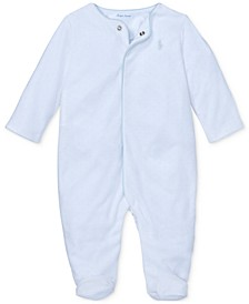 Baby Boys Velour Coverall