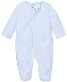 Ralph Lauren Baby Boys Velour Coverall
