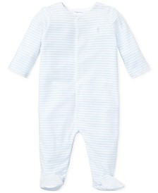 Ralph Lauren Baby Boys Striped Velour Coverall