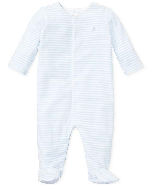 Polo Ralph Lauren Ralph Lauren Baby Boys Striped Velour Coverall