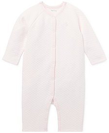Ralph Lauren Baby Girls Jacquard Coverall