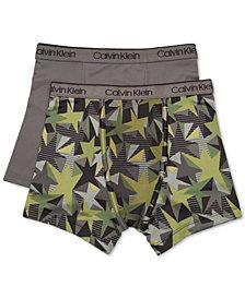 Calvin Klein Little & Big Boys 2-Pk. Cotton Boxer Briefs