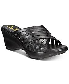 Callisto Willowe Slide Platform Wedge Sandals