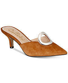 Callisto Grandy Pointed-Toe Kitten-Heel Mules, Created for Macy's