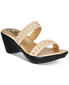 Callisto Beguile Slide Studded Platform Wedge Sandals, Created for Macy's