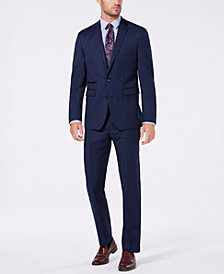 Vince Camuto Men's Slim-Fit Stretch Navy Solid Wool Suit