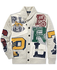 Polo Ralph Lauren Big Boys Patchwork Cotton Cardigan