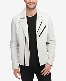 DKNY Men's Leather Moto Jacket, Created for Macy's