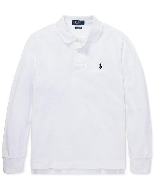Polo Ralph Lauren Big Boys Cotton Long-Sleeve Polo Shirt