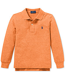Polo Ralph Lauren Little Boys Cotton Long-Sleeve Polo Shirt