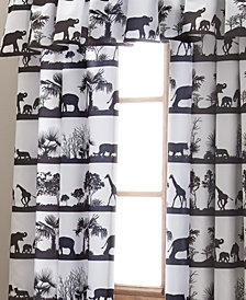 African Safari Drapery Panels Each