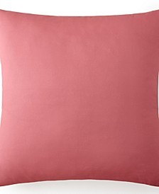 Birds In Bliss Euro Sham - Solid Pink