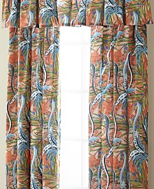 Tropical Bloom Tailored Valance