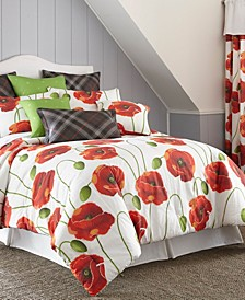 Poppy Plaid Comforter Set-King