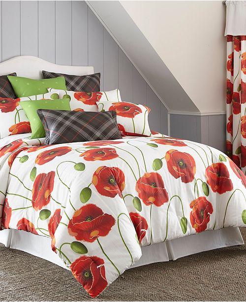 Colcha Linens Poppy Plaid Comforter Set-King/California King