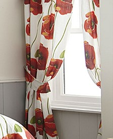 Poppy Plaid Drapery Panels Each