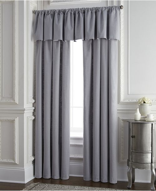 Colcha Linens Cambric Gray Tailored Valance