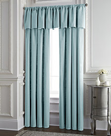 Cambric Aqua Tailored Valance
