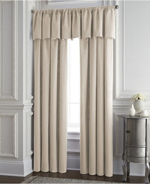 Colcha Linens Cambric Vanilla Tailored Valance