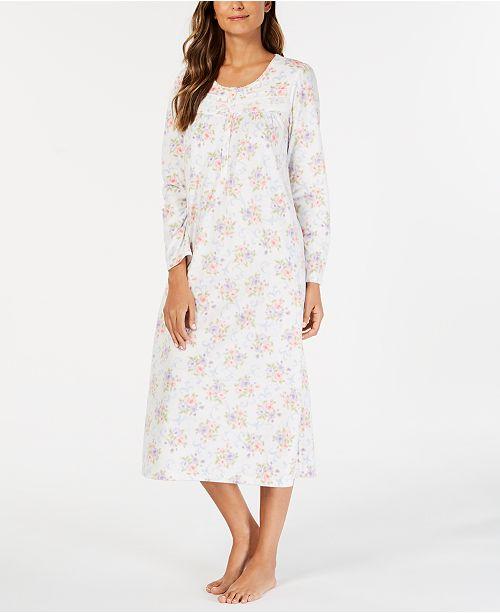 ... Charter Club Printed Thermal Fleece Nightgown c583351e9