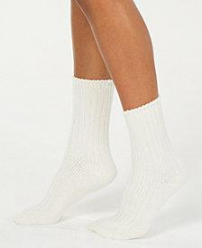 HUE® Chenille Plush Boot Socks