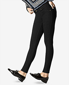 HUE® Fleece-Lined Denim Leggings