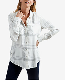 Lucky Brand Plaid Side-Button Shirt