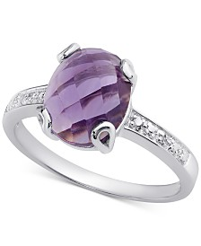 Amethyst (2-3/8 ct. t.w.) & Diamond Accent Ring in Sterling Silver