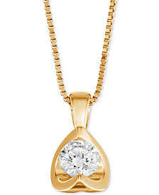 "Diamond Tension-Set 18"" Pendant Necklace (5/8 ct. t.w.) in 14k Gold"