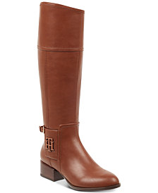 Tommy Hilfiger Merritt Wide-Calf Riding Boots