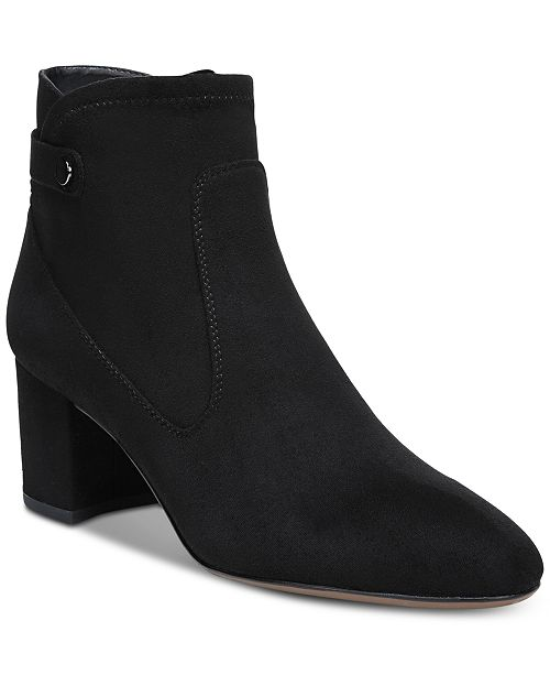 25abafab2b3e Franco Sarto Newton Block-Heel Booties   Reviews - Boots - Shoes ...