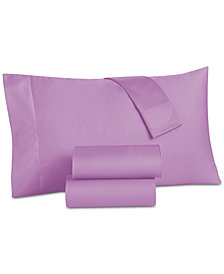 CLOSEOUT! Grace Home Cotton Reversible 500 Thread Count 4-Pc. Queen Sheet Set