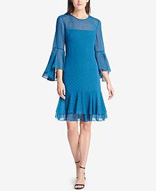 Vince Camuto Clip-Dot Chiffon Dress