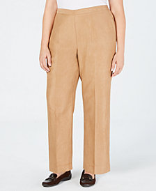 Alfred Dunner Plus Size News Flash Pull-On Pants