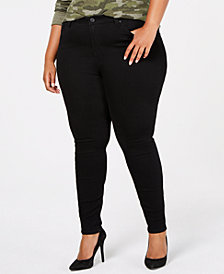 Celebrity Pink Trendy Plus Size High-Rise Black Skinny Jeans