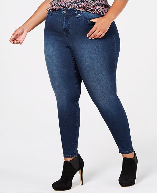 2445d903586 Celebrity Pink. Trendy Plus Size High-Rise Skinny Jeans. Be the first to  Write a Review. main image