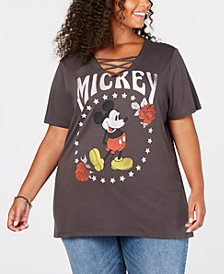 Mad Engine Plus Size Metallic Mickey Mouse T-Shirt