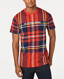 G-Star RAW Men's Royal Tartan T-Shirt, created for Macy's