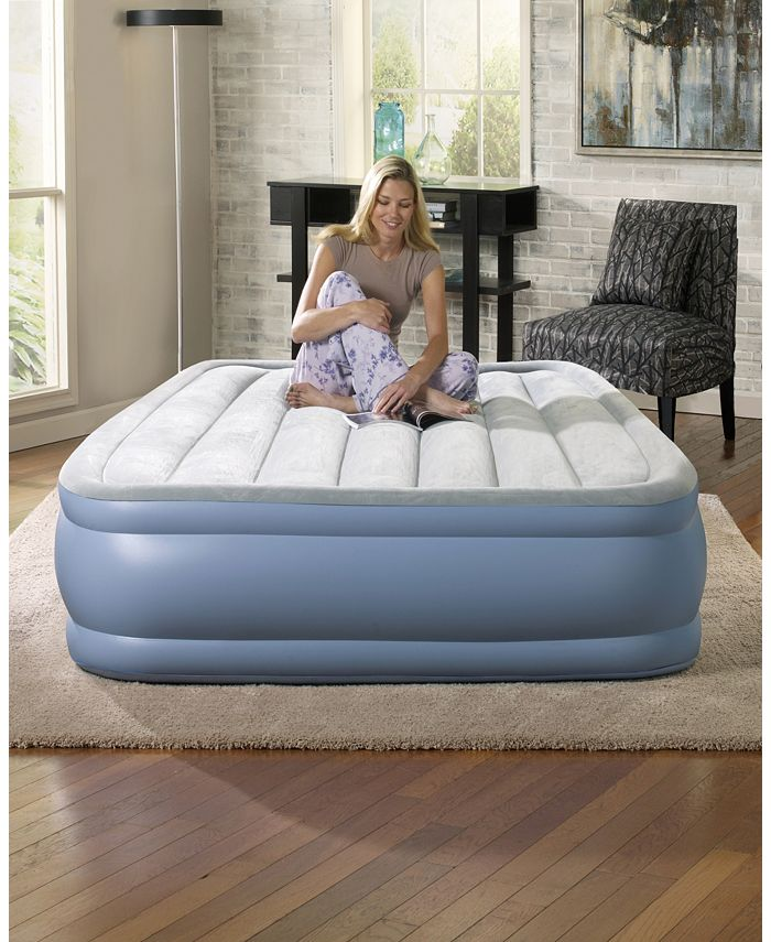 Simmons - Hi Loft Raised Air Bed Mattress With Express Pump