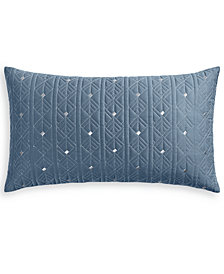 "Hotel Collection Cascade 300-Thread Count Blue 14"" x 24"" Decorative Pillow, Created for Macy's"