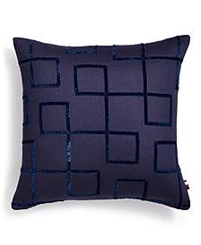 "Tommy Hilfiger Jedidiah 18"" x 18"" Geo Decorative Pillow"