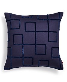 "Tommy Hilfiger Jedidiah 18"" x 18"" Geo Decorative Pillow"