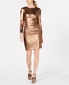 Calvin Klein Metallic Bodycon Dress