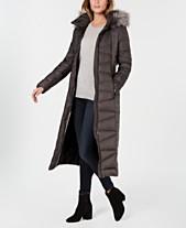 75c0a436fc7 Calvin Klein Faux-Fur-Trim Maxi Puffer Coat