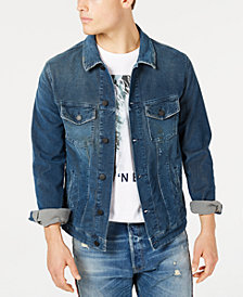 Jack & Jones Men's Cord Blue Trucker Jacket